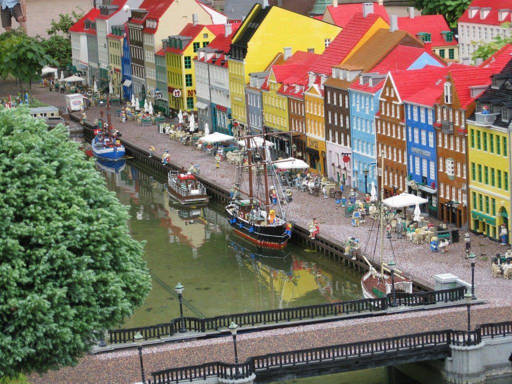 レゴで作ったデンマーク/コペンハーゲンの風景